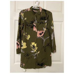 Warehouse Top / Shift Dress Floral Print